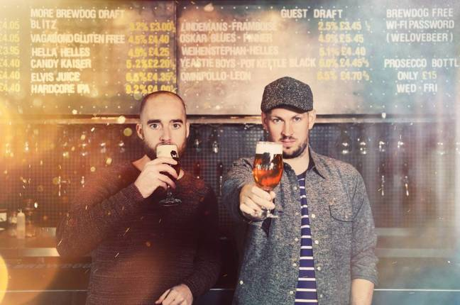 BrewDog founders James Watt and Martin Dickie. Credit: BrewDog