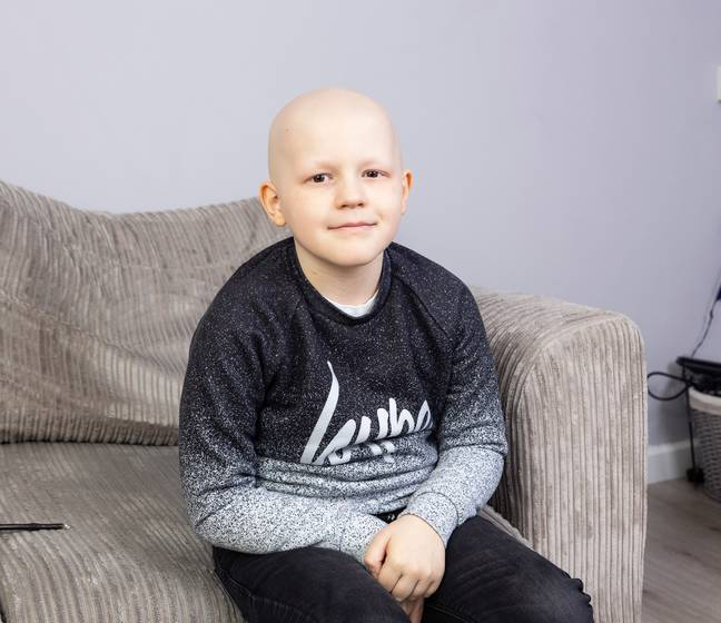 Saul underwent 13 rounds of chemotherapy. Credit: SWNS