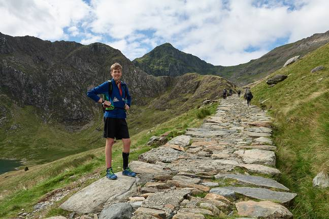 Alex climbed the three peaks - and ran between. Credit: Alex Staniforth/Jonathan Davies