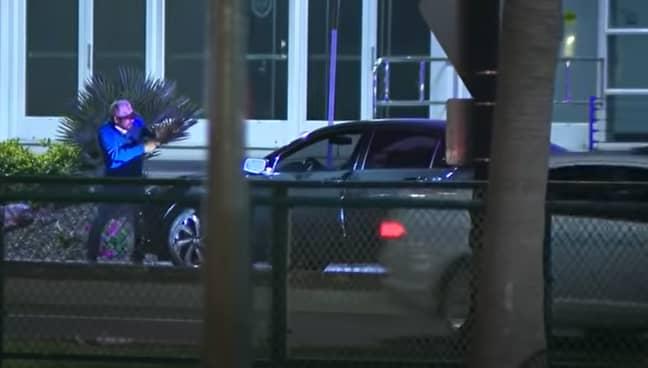 The gunman was arrested. Credit: FOX 5 San Diego