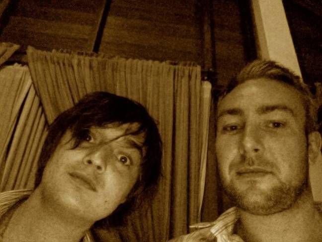 Adam with Pete Doherty. Credit: Adam Deering