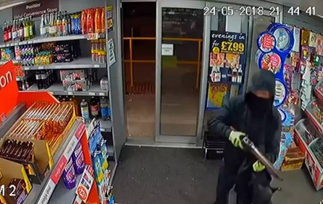 Another shopkeeper fought someone off with a magazine. Credit: Derbyshire Constabulary