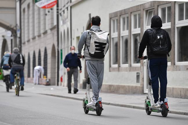 E-scooters are becoming increasingly popular in the UK. Credit: PA
