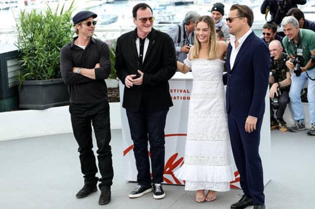 Brad Pitt, Quentin Tarantino, Margot Robbie and Leonardo DiCaprio at the Cannes Film Festival. Credit: PA
