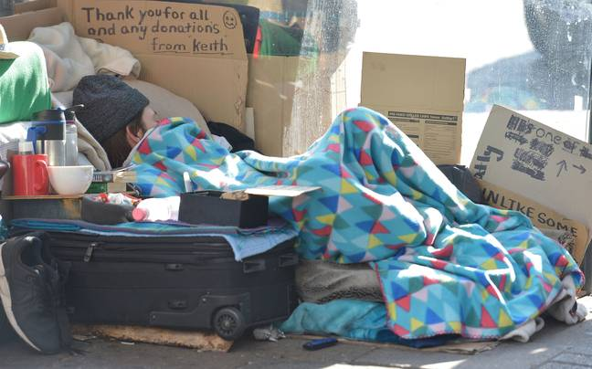 One in 200 people in England is homeless. Credit: PA