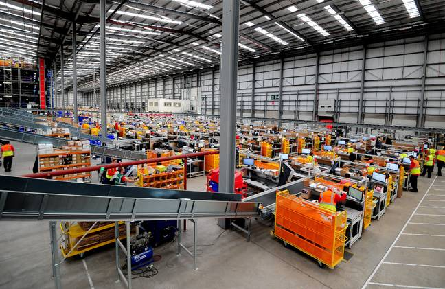Workers in the Asos distribution centre near Barnsley, South Yorkshire. Credit: PA