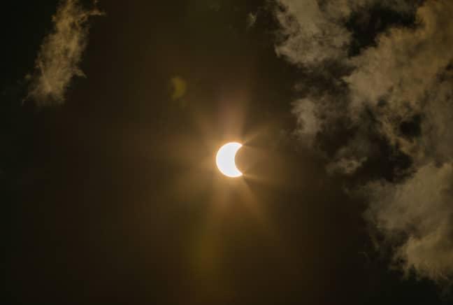 A partial solar eclipse (Credit: PA)