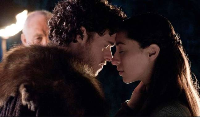 Robb Stark and Talisa Maegyr secret marriage featured the same song. Credit: HBO