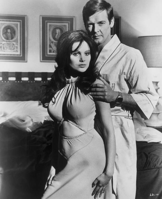 Madeline Smith as Miss Caruso in Live and Let Die. Credit: PA