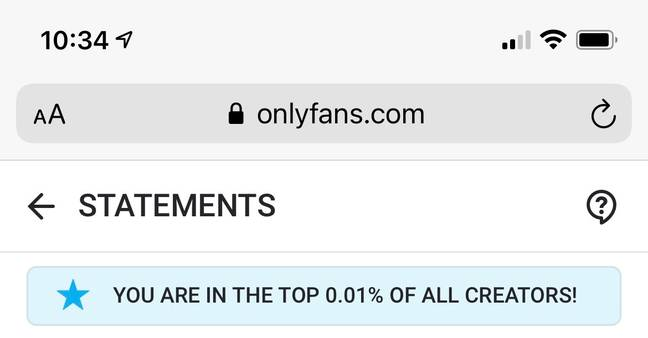 Mia's page is currently in the top 0.01% in the world. Credit: Mia Karina