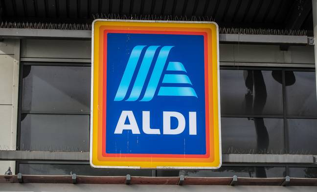 Aldi has installed a new traffic light system by the doors that will tell customers when they can safely enter. Credit: PA
