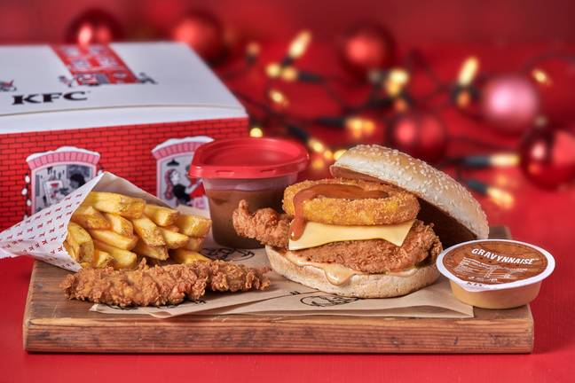 The Gravy Burger Box meal is priced from £6.99. Credit: KFC