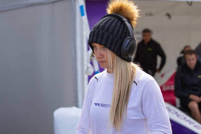 Her motorsport journey is well and truly back on. Credit: Alamy
