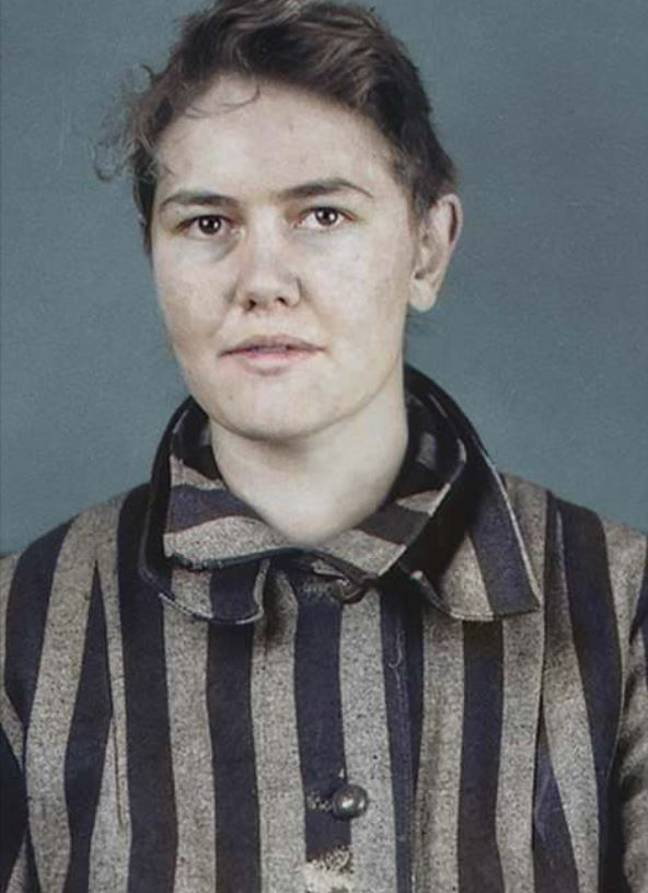 Deliana Rademakers' photograph is among those that have been colourised as part of the project. Credit: https://facesofauschwitz.com/