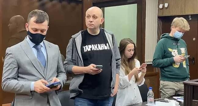 Mr Smirnov was sentenced to 25 days in jail after retweeting a joke. Credit: Tverskoi District Court