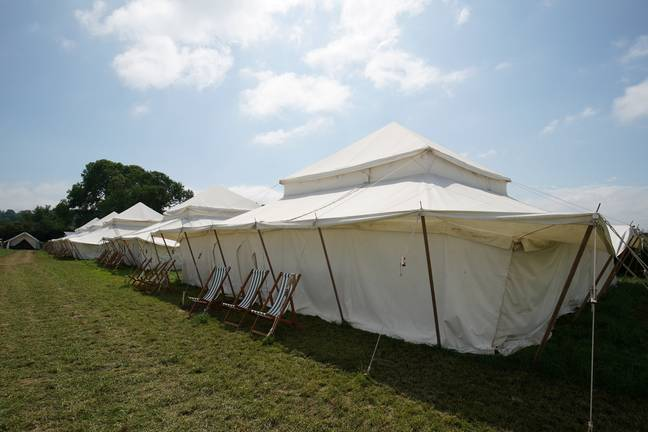The 10-person tent will set you back a cool £25k. Credit: SWNS