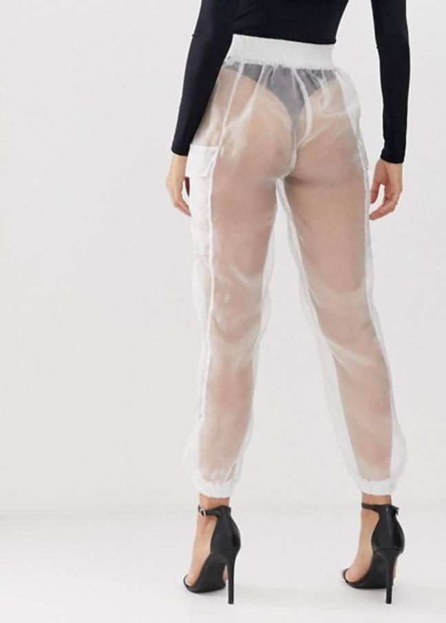 The trousers don't exactly leave much to the imagination... Credit: ASOS