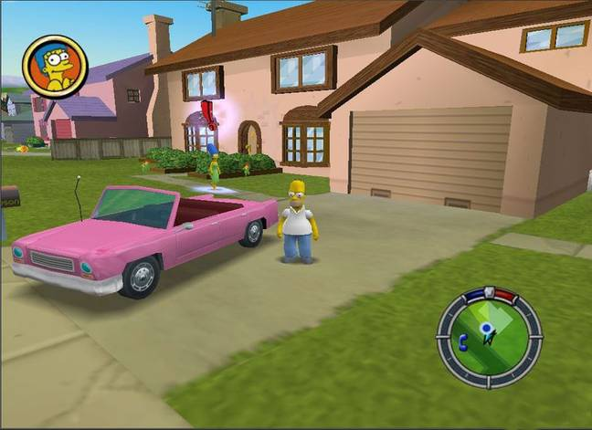 The producer of The Simpsons: Hit & Run says he thinks the game could be remastered. Credit: Radical Entertainment
