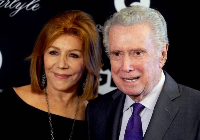 Regis Philbin with his wife Betty Joy. Credit: PA