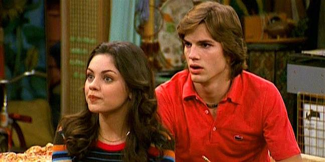 Kunis and Kutcher met on the set of That 70s Show. Credit: Fox