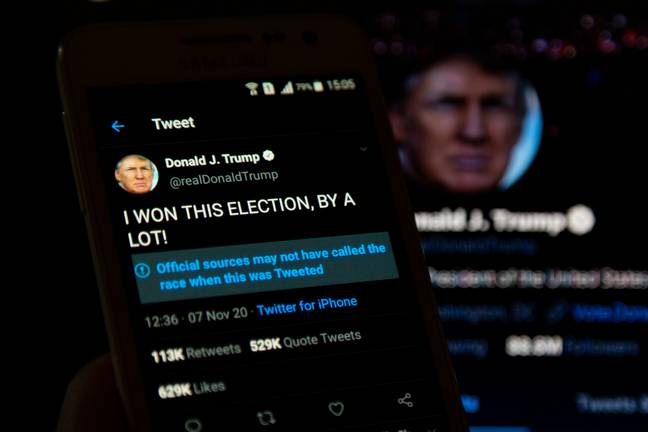 Trump is a prolific Twitter user. Credit: PA