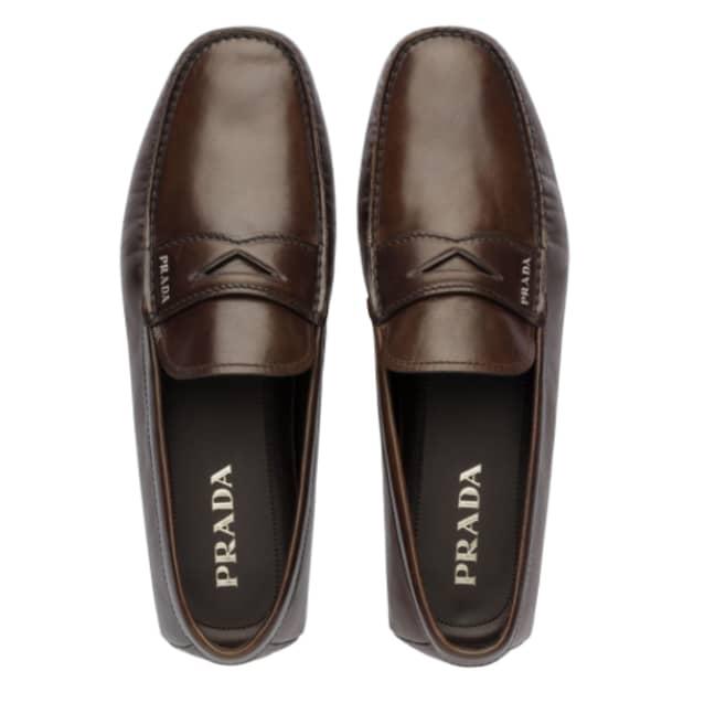 Prada's Kangaroo Leather loafers. Credit: Lyst