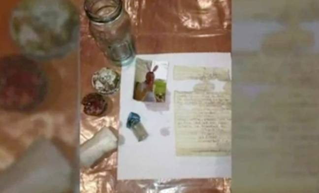 The bottle contained a note and a picture of Jerry. Credit: WKYT
