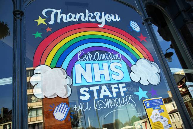 Rainbows have become a symbol of gratitude for NHS and key workers. Credit: PA