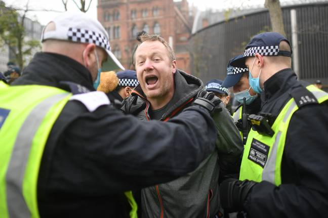 Protesters arrived at Kings Cross Station this morning. Credit: PA