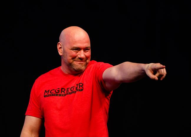 UFC president Dana White. Credit: PA