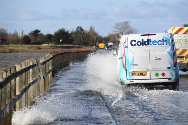 If you love wet and windy weather then you'll love Storm Dennis. Credit: PA