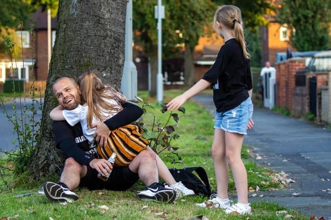 Wesley's daughters are so proud of their dad. Credit: Enda Burke