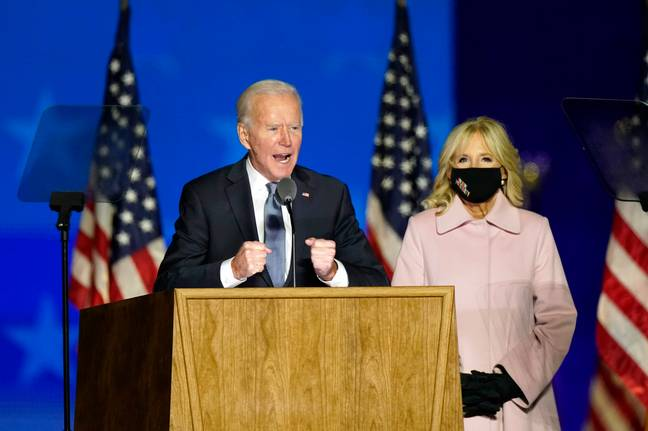 Joe Biden is still confident of winning the election. Credit: PA