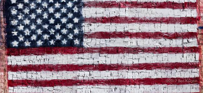 Drug baggie American flag