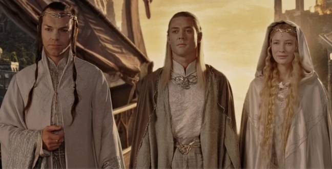 Elrond (left) and Galadriel (right) will reportedly feature in the Amazon series. Credit: New Line Cinema