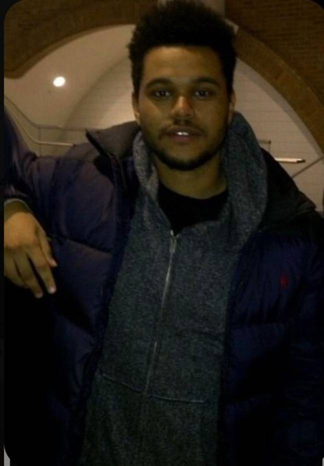 The Weeknd in his earlier days.