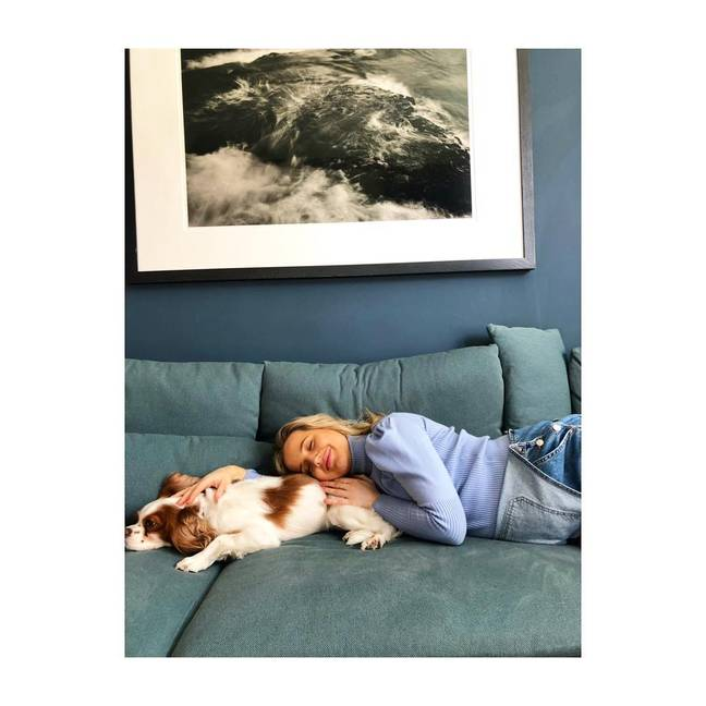 Tabitha Willett with her own dog. Credit: Instagram