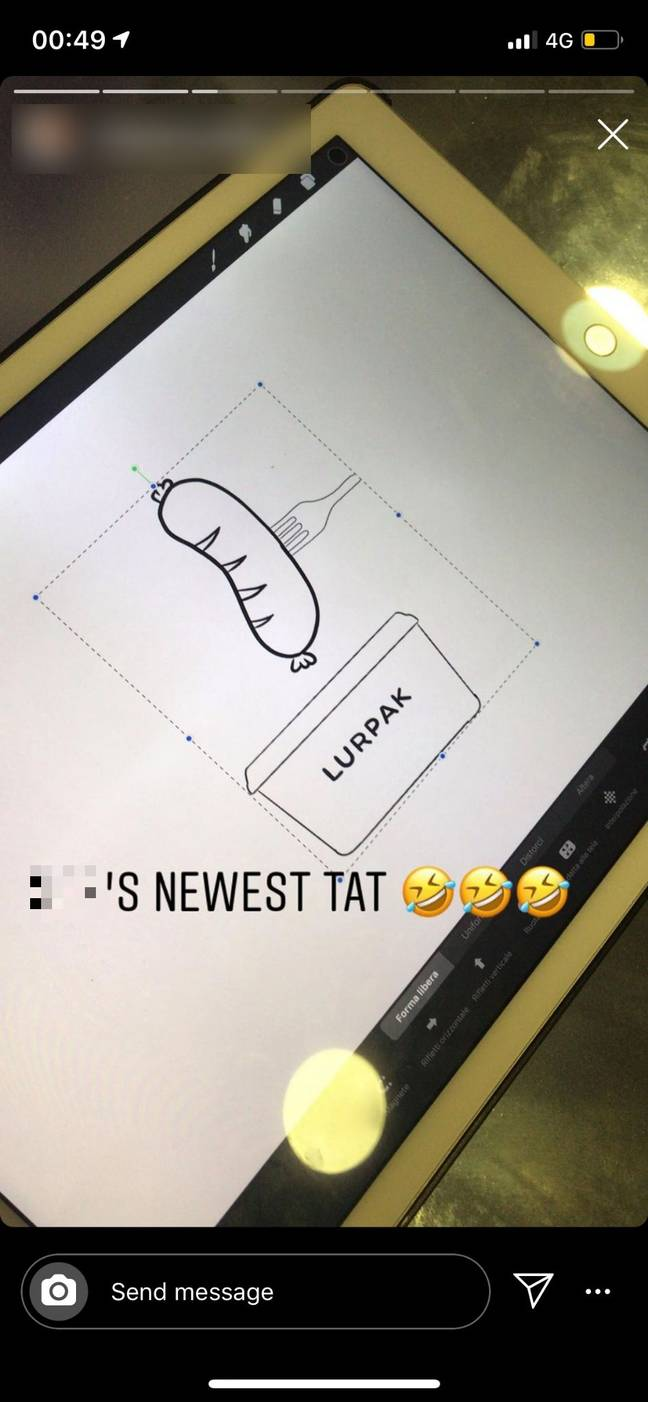 The original design didn't involve a sausage. Credit: LADbible