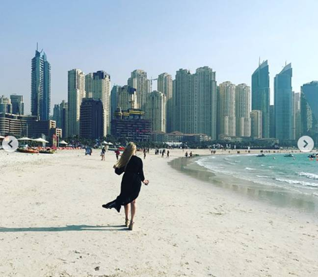 Jane visited Dubai and loved it. Credit: Instagram/Jane Park