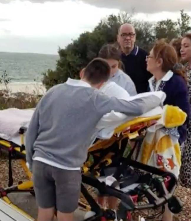 It was an emotional moment but one that the family really appreciated. Credit: Channel 9/Today Show