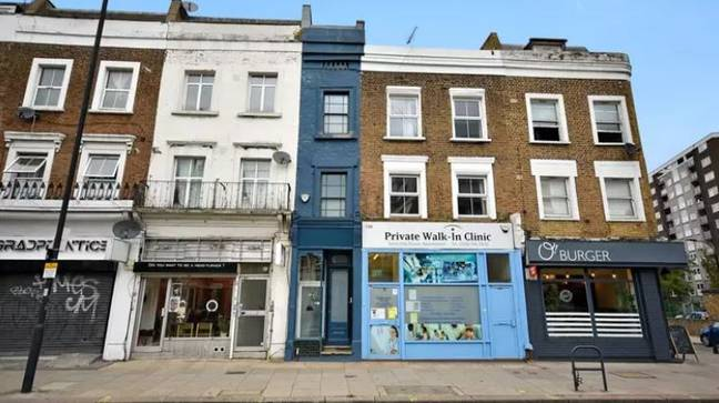 This thin house is on the market for just under £1m. Credit: Winkworth