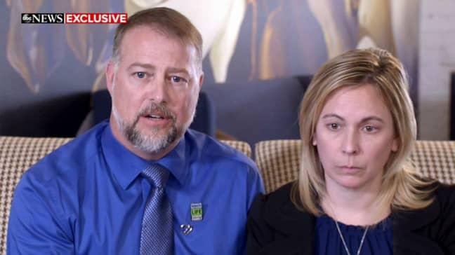 Stone Foltz's parents Shari and Cory. Credit: Good Morning America
