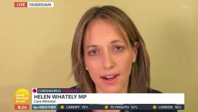 Ofcom received 1,900 over Piers' interview with Care Minister Helen Whately. Credit: ITV