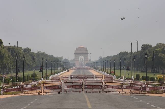 India Gate in New Delhi on 22 March 2020. Credit: PA