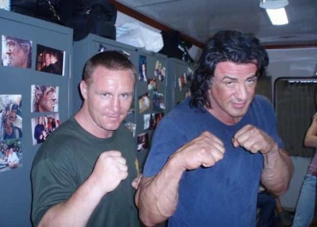 Billy was Sylvester Stallone's stunt double in Rambo IV. Credit: Supplied