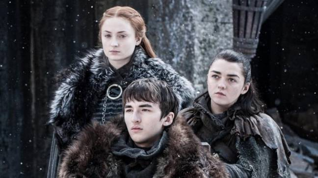 All three remaining Stark children survive the final series. Credit: HBO