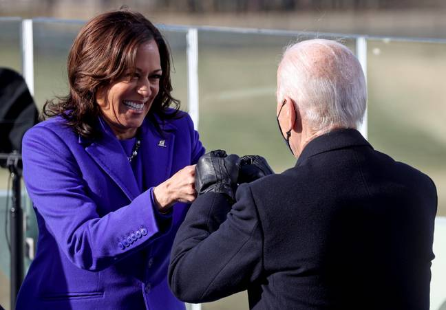 Vice President Kamala Harris and President Joe Biden. Credit: PA