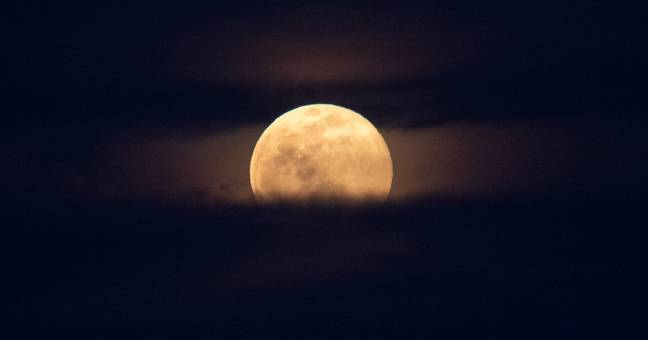 A supermoon occurs when a full moon coincides with lunar perigee ' Credit: NASA/Joel Kowsky