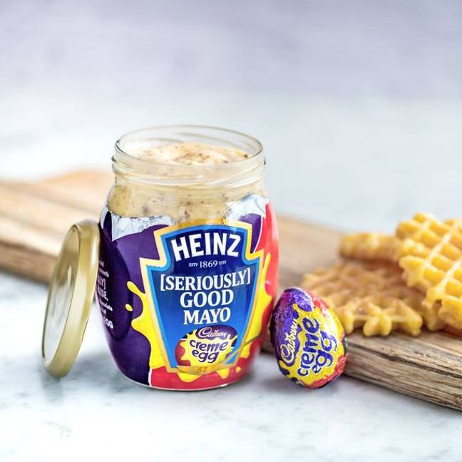 This concoction is very much real, folks. Credit: Heinz/Cadbury