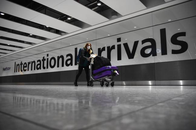 International arrivals that fail to take a covid test could be fined £1,000. Credit: PA